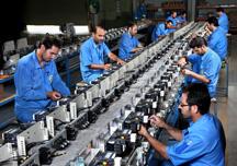 عکس مربوط به خط تولید سالن LV شرکت جابون